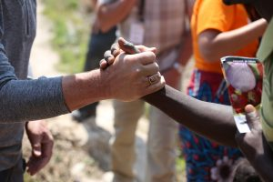 Visiting families in Chanda Chamamba village. Celebrating Families, savings group, and Farming God's Way (THRIVE). Hope Lutheran and Wellspring vision trip near Mwamba Area Program, Kasama, Zambia. Wellspring Vision Trip day 11.